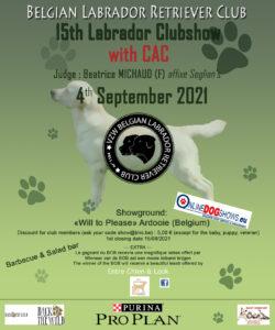 """{:fr}15th Labrador Retriever Specialty avec CAC{:}{:nl}15th Labrador Retriever Specialty met CAC{:} @ """"Will to Please"""""""